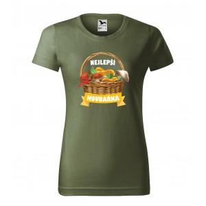 Dámské bavlněné tričko s vlastním potiskem pro nejlepší hubářku