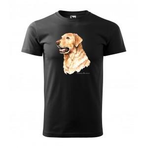 Pánské triko s krátkým rukávem s potiskem zlatého retrívra