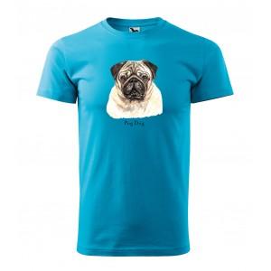 Tričko s potiskem pánské pro milovníky plemene psů mopslík