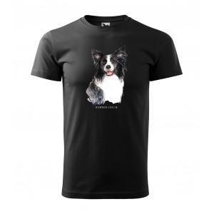Módní pánské tričko pro milovníky psího plemene border kolie