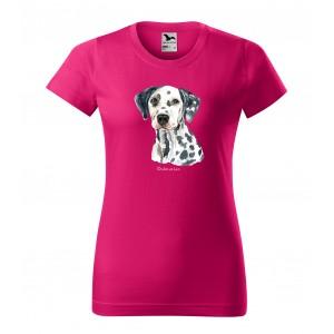Moderní dámské tričko pro milovnice psího plemene dalmatin