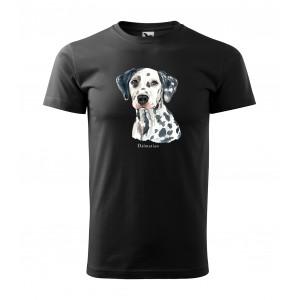 Stylové pánské tričko pro milovníky psího plemene dalmatínec