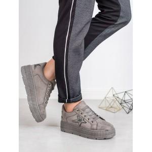 Šedé dámské boty