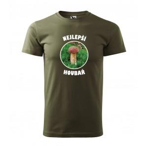 Pánské triko s potiskem Nejlepší houbař