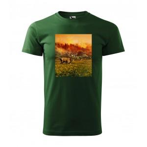 Pánské myslivecké tričko s potiskem jelenů
