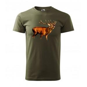 Pánské triko pro každého myslivce s motivem jelena