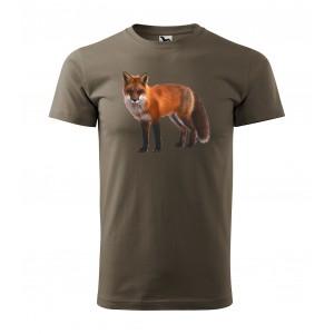 Tričko pro myslivce s potiskem lišky