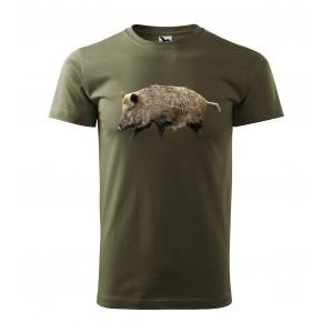 Tričko na lov s motivem divočáka