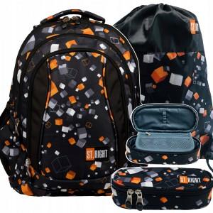 Kvalitní a ergonomický školní batoh pro chlapce v černé barvě