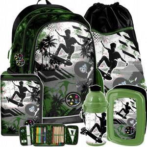 Školní set v zelené barvě pro chlapce