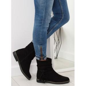 Dámské kotníkové boty v černé barvě