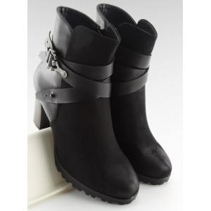 Stylové dámské kotníkové boty v černé barvě