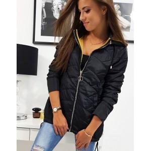 Moderní černá dámská bunda