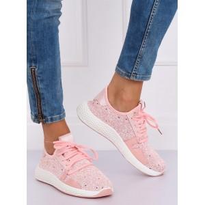 Vzdušné a pohodlné dámské tenisky růžové barvy