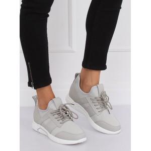 Pohodlná dámská sportovní obuv šedé barvy