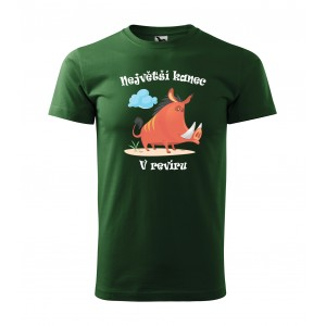 Pánské lovecké tričko pro největšího kance v revíru