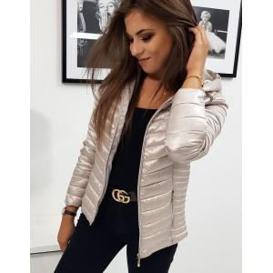 Elegantní dámská přechodná bunda s prošíváním a kapucí