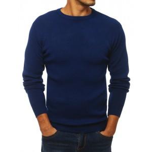 Tmavě modrý podzimní svetr pro pány