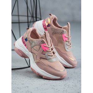 Moderní dámské tenisky v růžové barvě