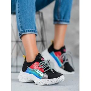 Sportovní obuv na platformě v černé barvě