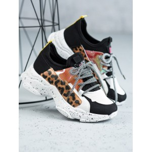 Leopardí tenisky na platformě pro dámy
