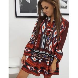 Krásné letní mini šaty volného střihu v módním etno stylu