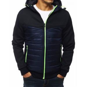 Pánská přechodná bunda v granátové barvě s kapucí