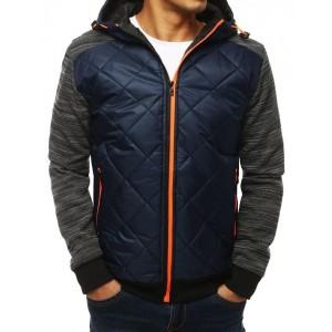 Pánská bunda na přechodné období s oranžovým zipem