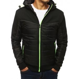 Originální černá bunda pro pány s kapucí
