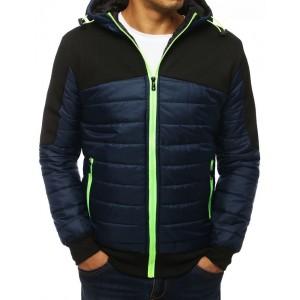 Stylová prošívaná bunda s kapucí na zip
