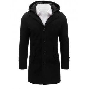 Dlouhý černý kabát pro pány