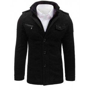 Elegantní černý kabát pro muže
