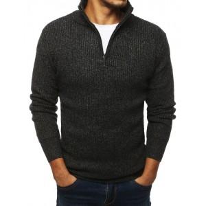 Moderní pánský svetr v šedé barvě