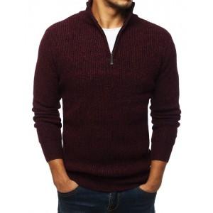 Pánský bordový svetr s dlouhým rukávem