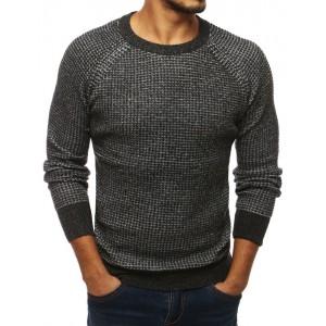 Tmavě šedý svetr pro muže
