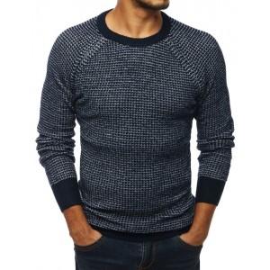 Stylový pánský svetr v modré barvě