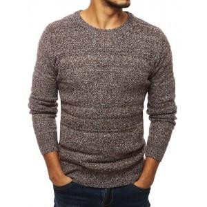 Pánský svetr v hnědé barvě s úzkým střihem