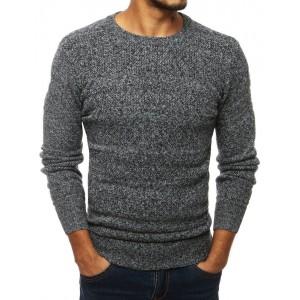 Měkký šedý svetr per mužů