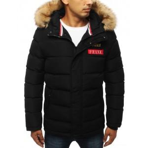 Zateplená pánská zimní bunda s hustou kožešinou