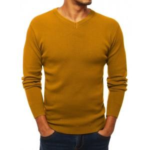 Elegantní pánský svetr v hořčicové barvě