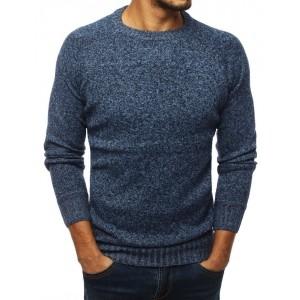 Stylový modrý svetr na běžné nošení