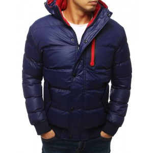 Pánská sportovní zimní bunda tmavě modré barvy
