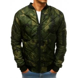 Army pánská bomber bunda v zelené barvě
