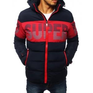 Pánská prošívaná bunda na zimu s barevným potiskem