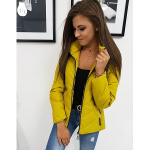Stylová přechodná dámská bunda s kapucí s módním prošíváním