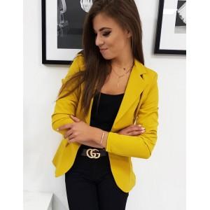 Dámské stylové sako ve žluté barvě