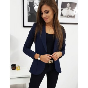 Elegantní dámské sako v modré barvě