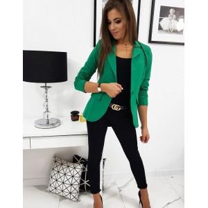 Moderní sako v zelené barvě pro dámy