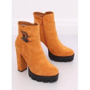 Luxusní dámské kotníkové boty na vysokém podpatku