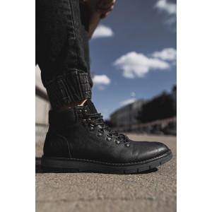 Pánské stylové boty v černé barvě